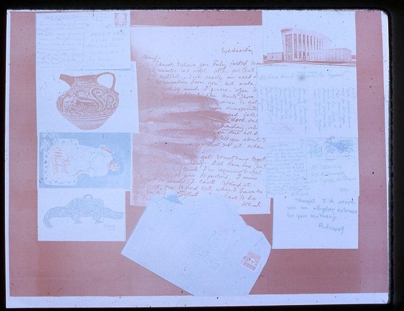 Letter portfolio, interior 1975