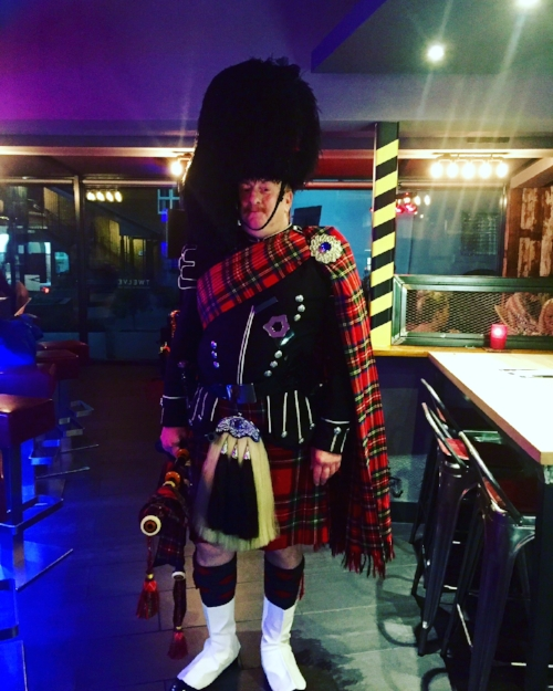 Our wonderful bagpiper!