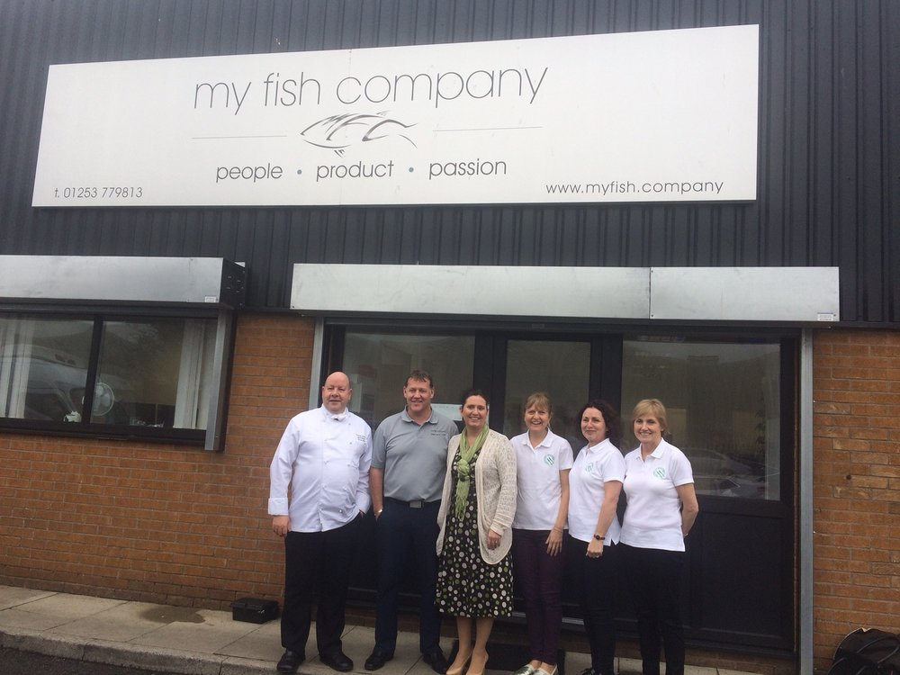 Our fantastic suppliers at My Fish Company supplying the fish!