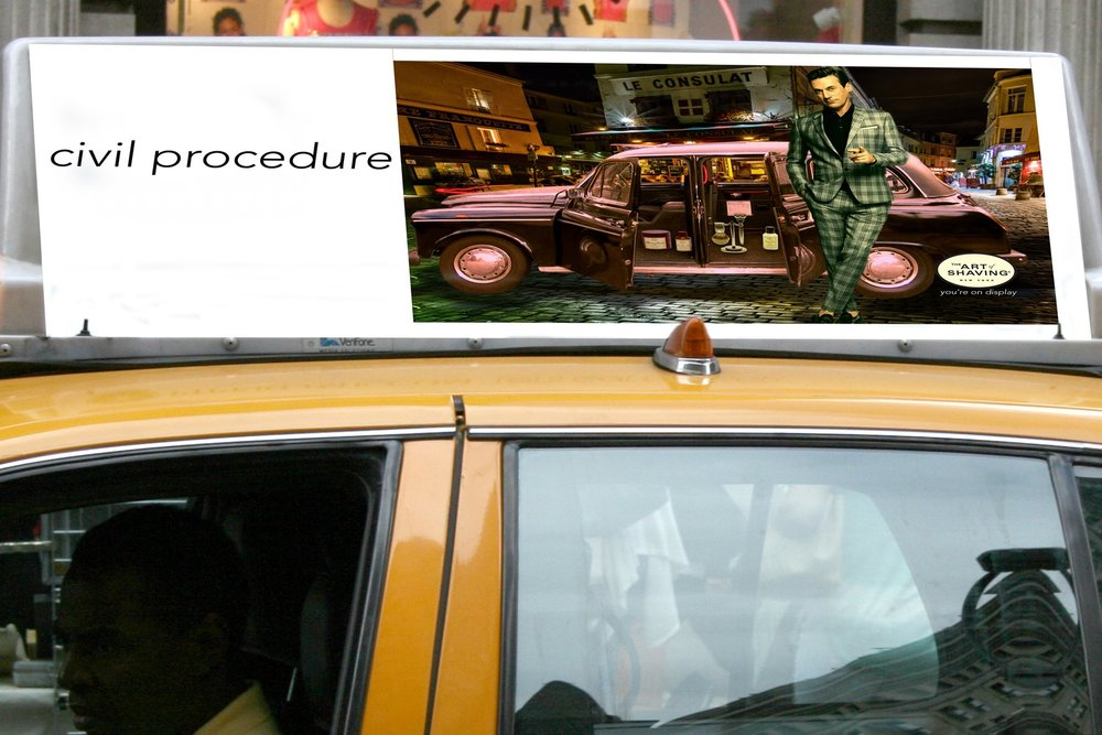Taxi top ad