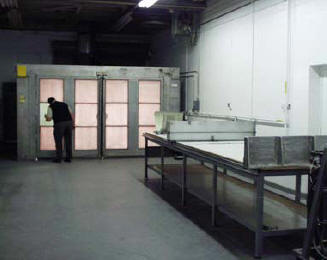12' X 12' X 7' primer booth and honeycomb expander