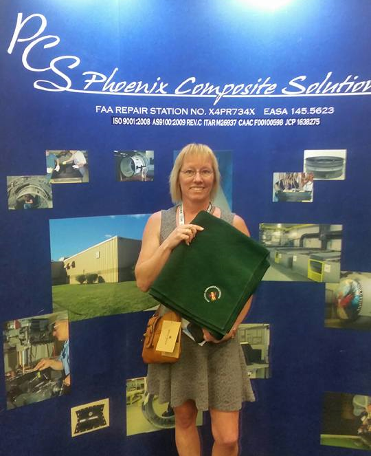 Congratulations to Tammy Cook from Aircraft Technologies Group for winning one of our beautiful blankets.