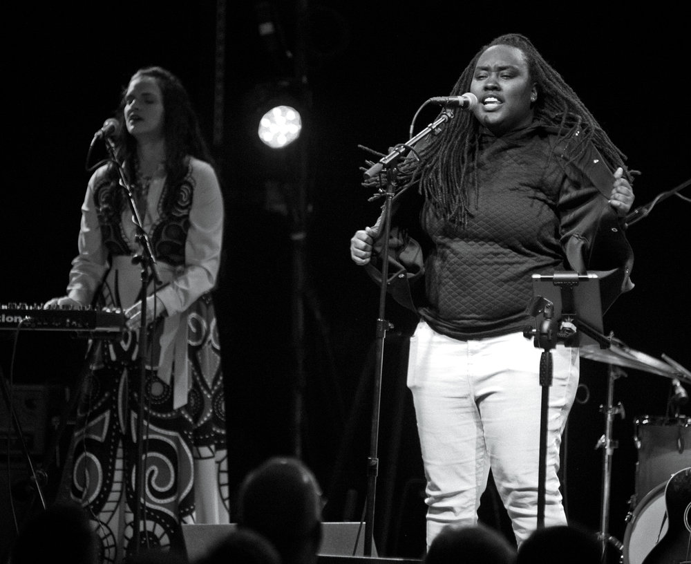 "Cashavelly Morrison and TuKool Tiff performing ""Iodine"" at The Ramkat in Winston-Salem, NC on March 16, 2019"