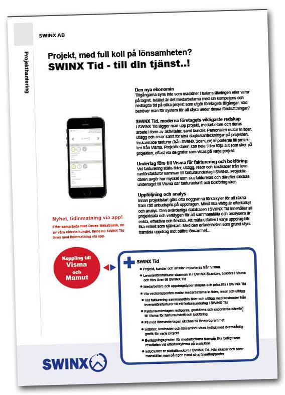 Produktblad, SWINX Tid