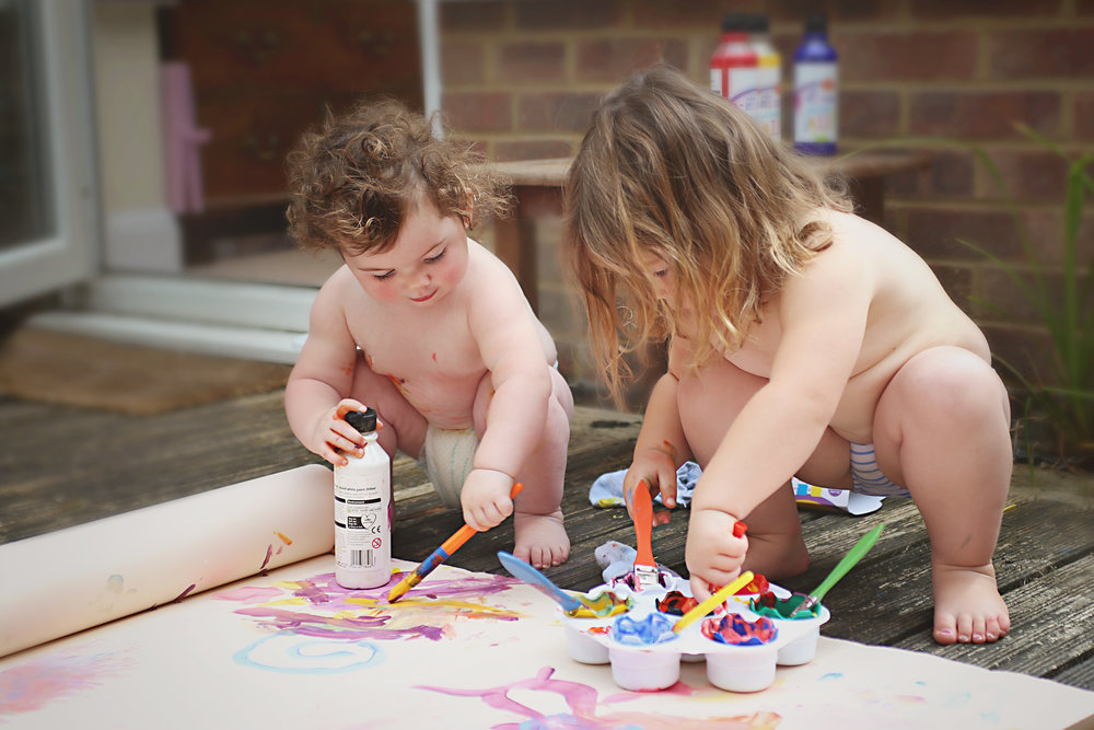 My girls, painting together. I realized I hadn't let them do this for a whole year. That's when it occurred to me that I'm actually not being all that I can be to them, quite a hard hitting truth, yet filled with hope of what can be.