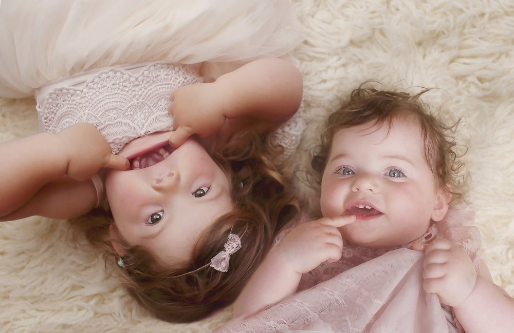 Abigail Morgan (left, 3 and a half) / Stacey Georgia - Mae (right, one and a half)