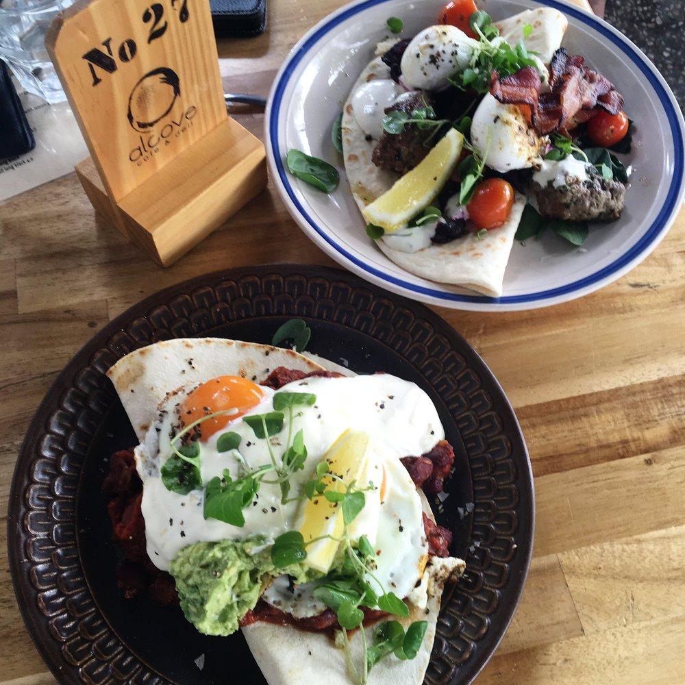 Alcove Cafe & Deli - Huevos Rancheros & Lamb Kofta