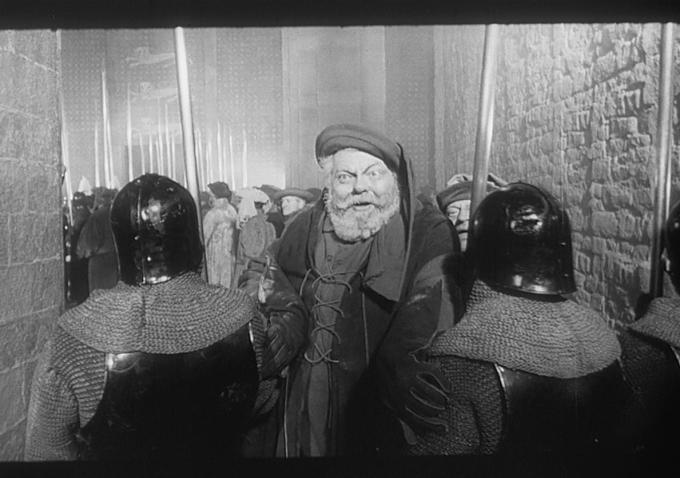 """Orson Welles dans le rôle de Falstaff dans sonfilm """"Falstaff :Chimes at Midnight"""""""