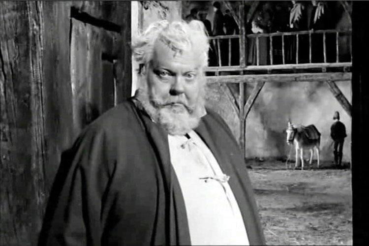 Orson Welles dans le rôle de Falstaff, « Falstaff -Chimes at Midnight ».