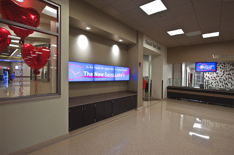 Digital signage for hospital cafeteria
