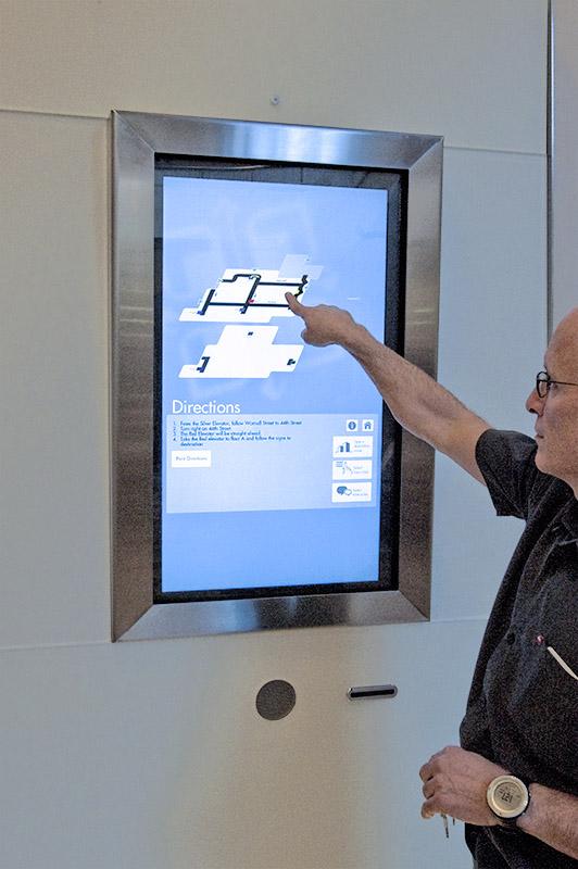 Interactive touch screen wayfinding kiosk for Saint Luke's Hospital