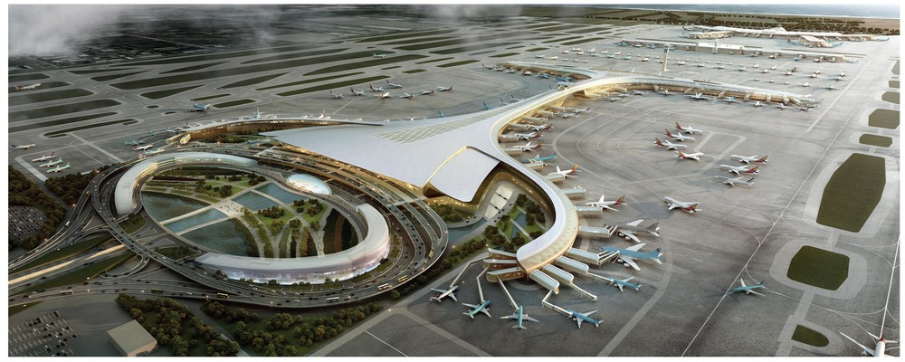 Rendering of Incheon Airport proposed design