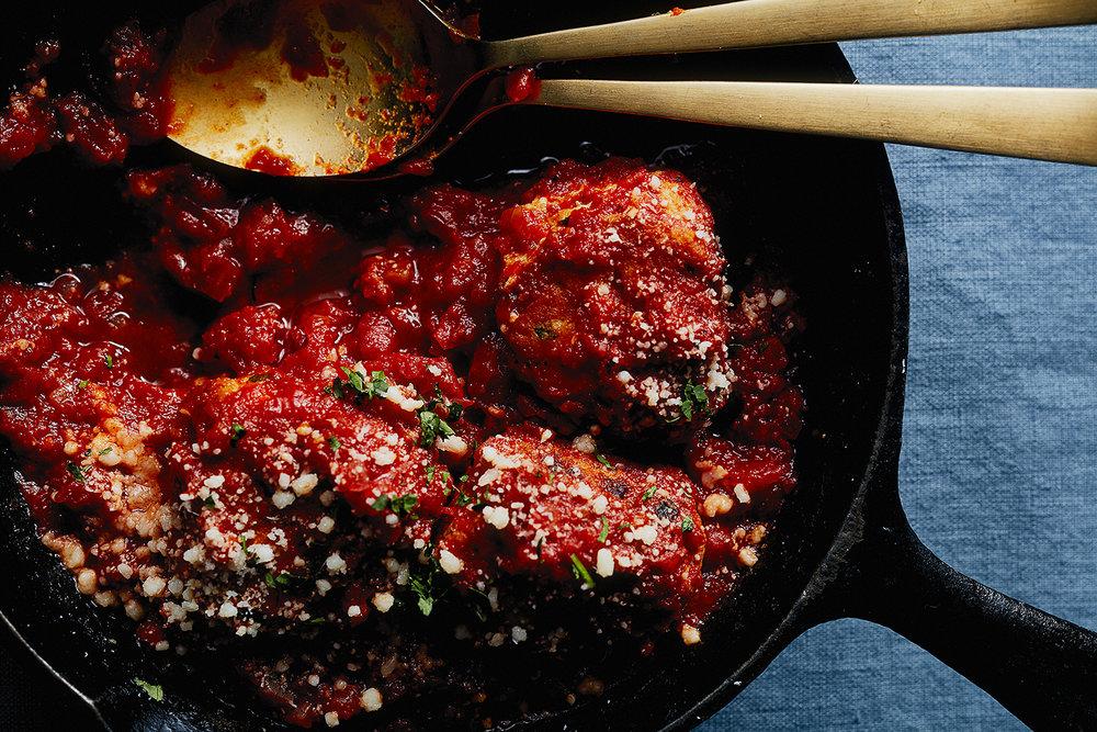 Chicken Meatballs with Mozzarella-Garlic Bread and Charred Broccoli — 0046.jpg