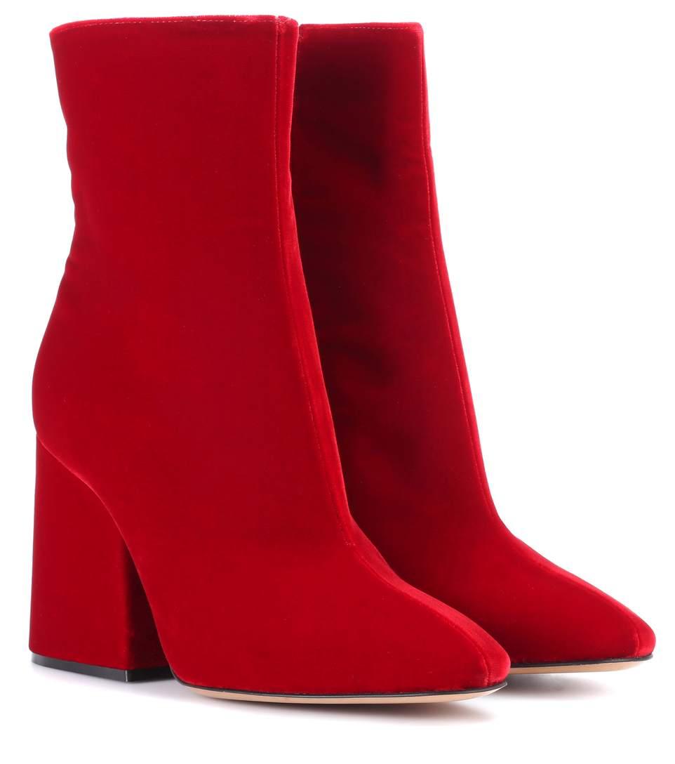 Maison Margiela Velvet ankle boots Red M83QS5FH