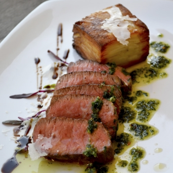 Porcini Encrusted New York Strip             Pair with Nº 78 Cabernet Sauvignon