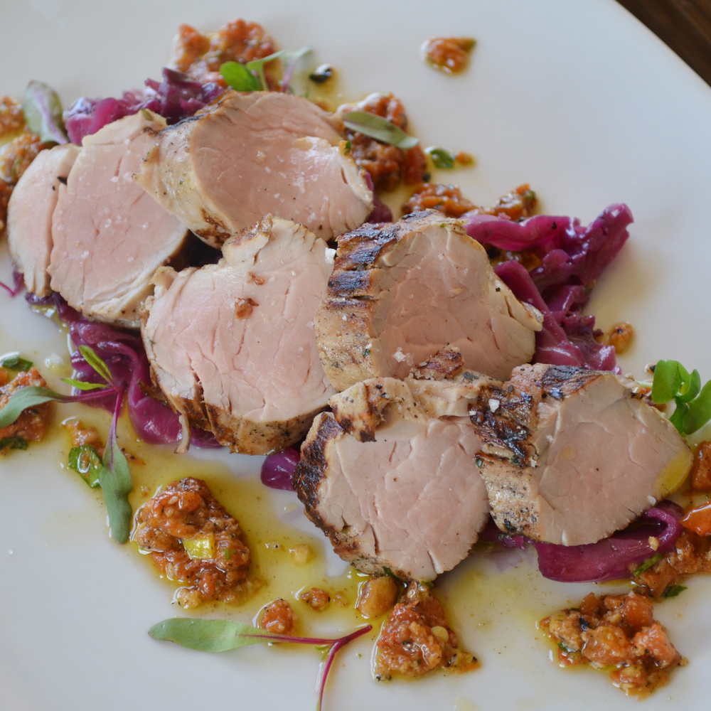 Lavender & Limoncello Marinated Pork Tenderloin, Braised Red Cabbage (1).JPG