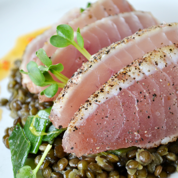Albacore Tuna and Lentils Pair With Nº 19 Chardonnay