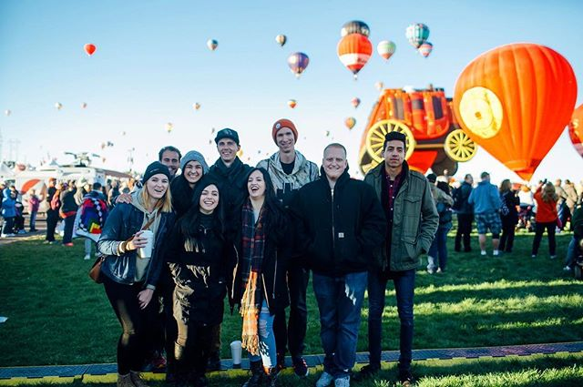 Building lifelong friendships, eating lots of donuts, watching balloons, freezing our toes off. Balloon fiesta was perfect!