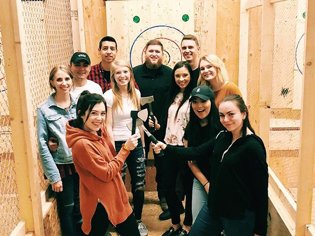 We had SUCH A BLAST throwing axes at @abqax!
