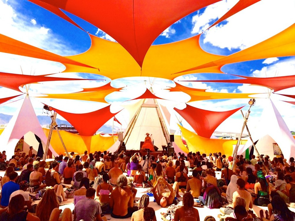 "Aprox 2000 people learned EFT at ""Red Lightning"" Camp during Burning Man with Sonya Sophia in 2014"