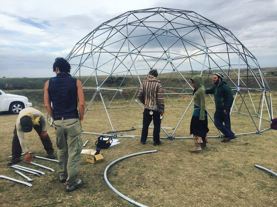 Home Dome at Rising at Sacred Stone Camp