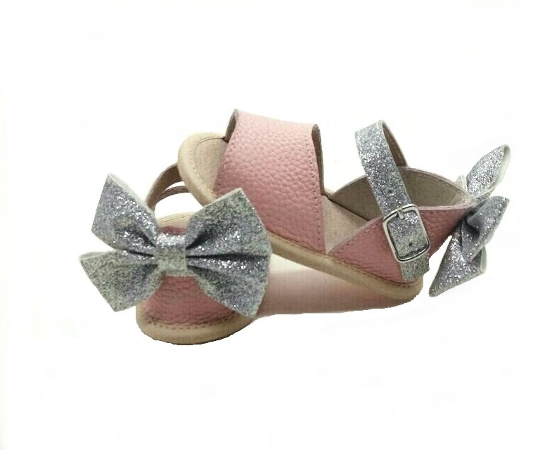 Bella Simone Leather Pink and Silver Glitter Sandal.jpg
