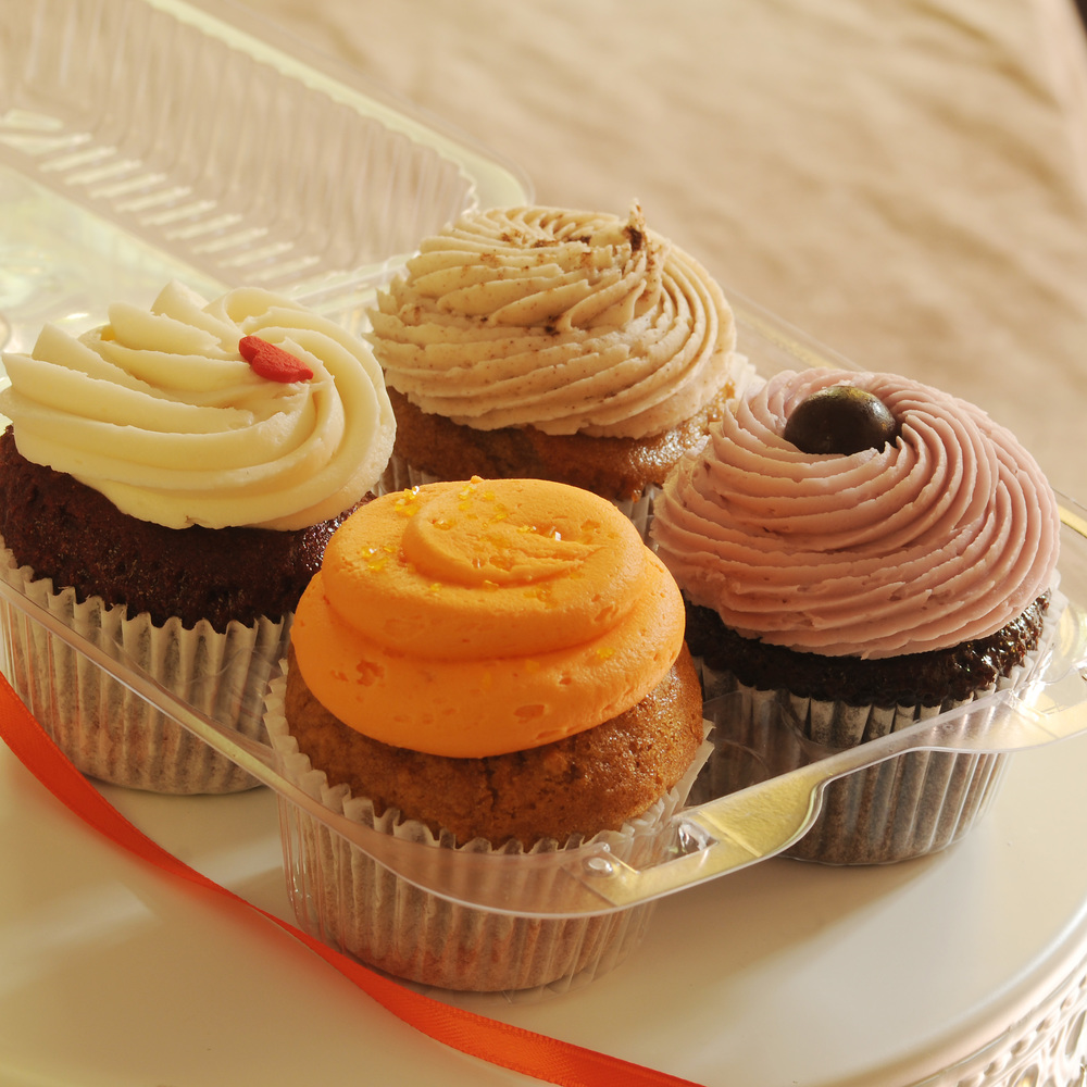 Four Pack of Mini Cupcakes.JPG