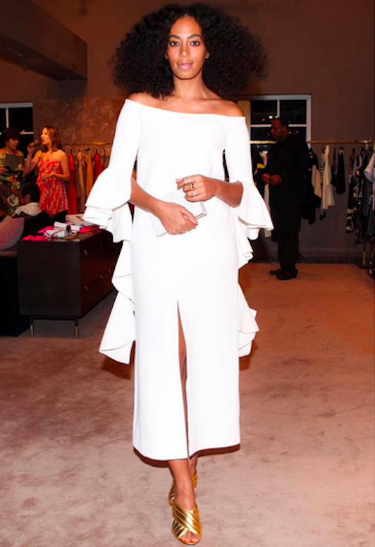 Solange at a 2015 Art Basel Miami event in Ellery