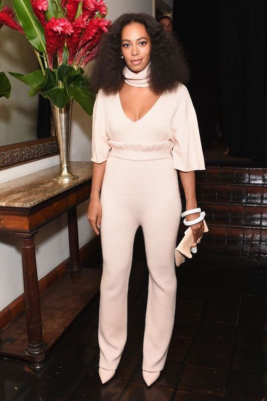 Solange at the 2015 CFDA Fashion Fund Show and Tea in Ryan Roche