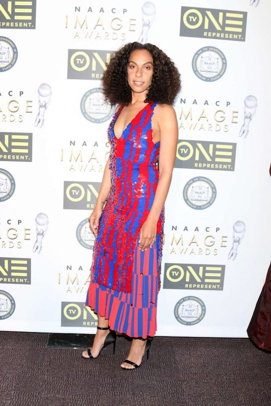 Melina at the 2017 48th Annual NAACP Image Awards in Proenza Schouler