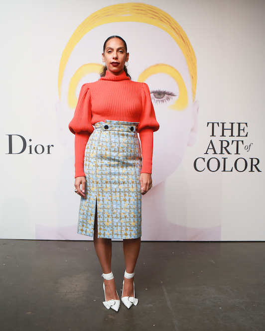 Melina at the 2016 launch of Dior- The Art of Color in Dior