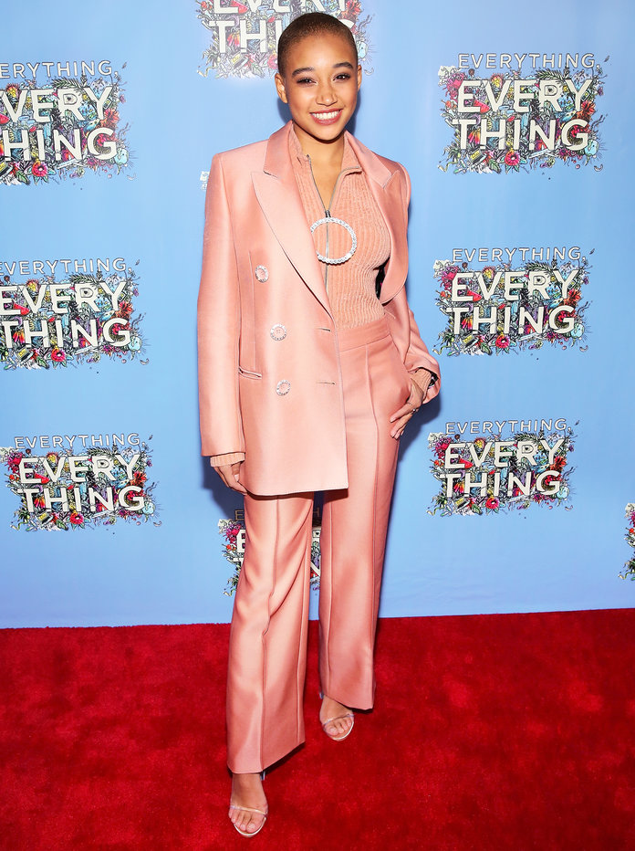 Amandla at the 'Everything, Everything' NYC Screening in Emilio Pucci (2017)