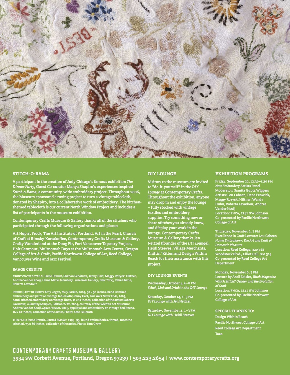 New Embroidery Exhibit Brochure