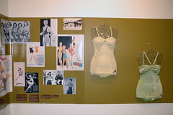 100 Years of Jantzen exhibit.  Vintage swimwear and advertising art from the Jantzen archives.