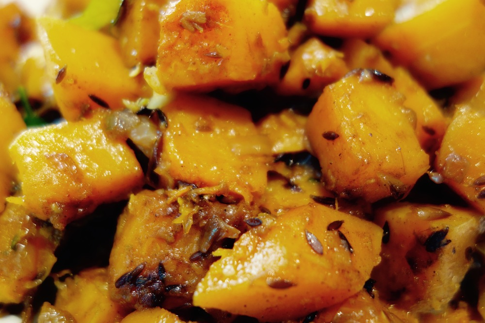 Sweet and spicybutternut squash
