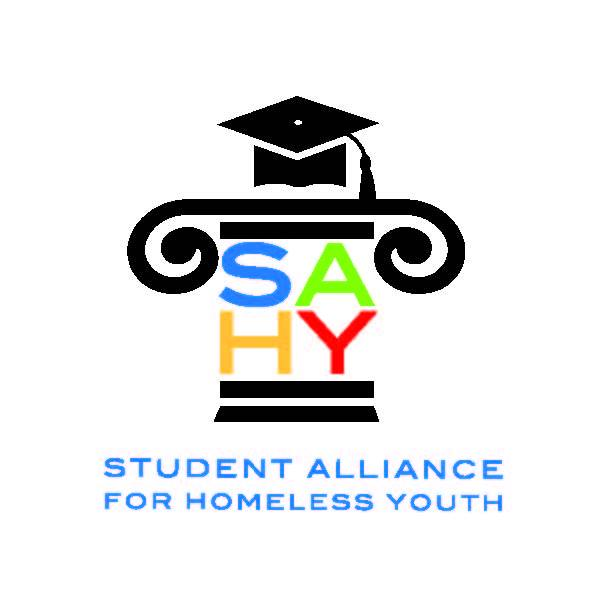 Student Alliance for Homeless Youth is a not-for-profit corporation that seeks to increase public awareness, reduce barriers to education, and improve the lives of homeless youth. Visit them on Facebook at  https://www.facebook.com/Student-Alliance-for-Homeless-Youth-270520606349116/?fref=ts