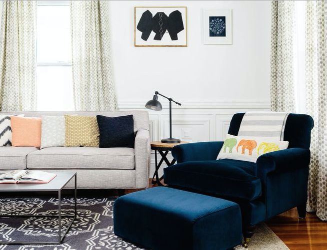 Boston Living Room Makeover