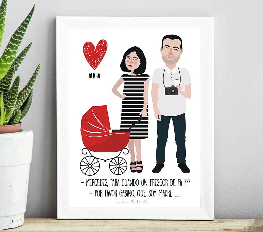 ilustracion-personalizada-pareja-bebe-asturias-mdebenito.jpg