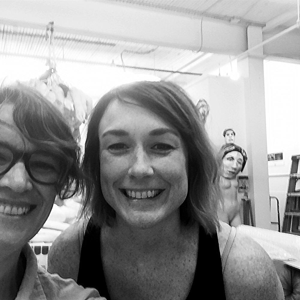 Vivian Liddell and Tori Tinsley in Tinsley's studio