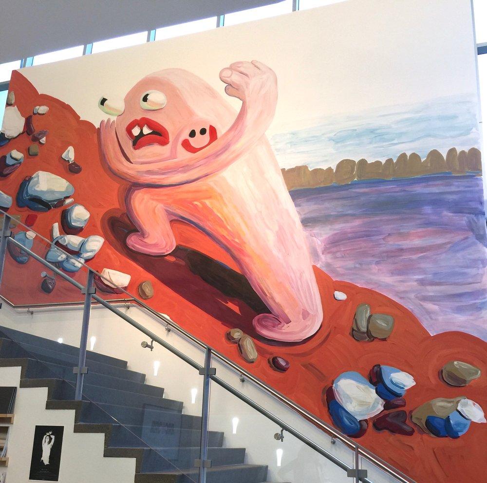 Tori Tinsley's mural at the Zuckerman Museum of Art. 2017