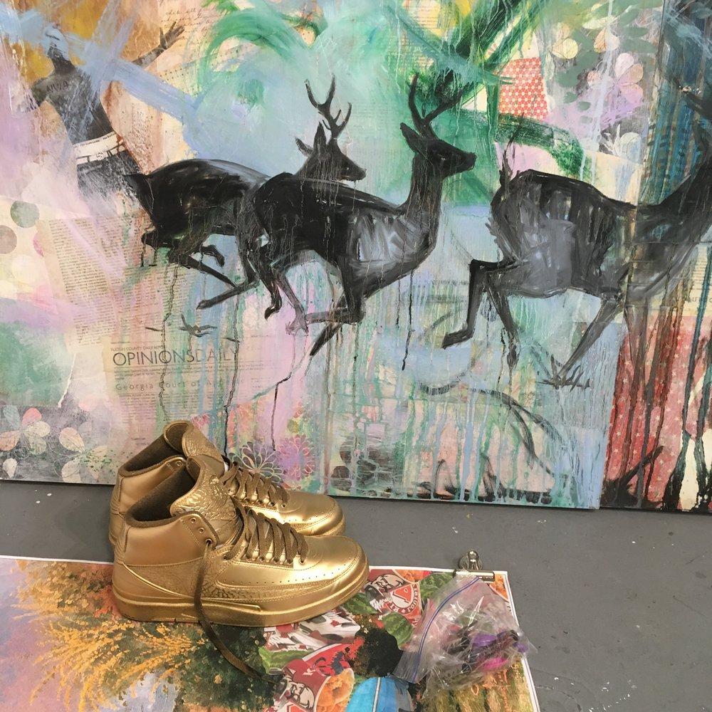 Shanequa Gay's Studio. Photo courtesy of the artist.