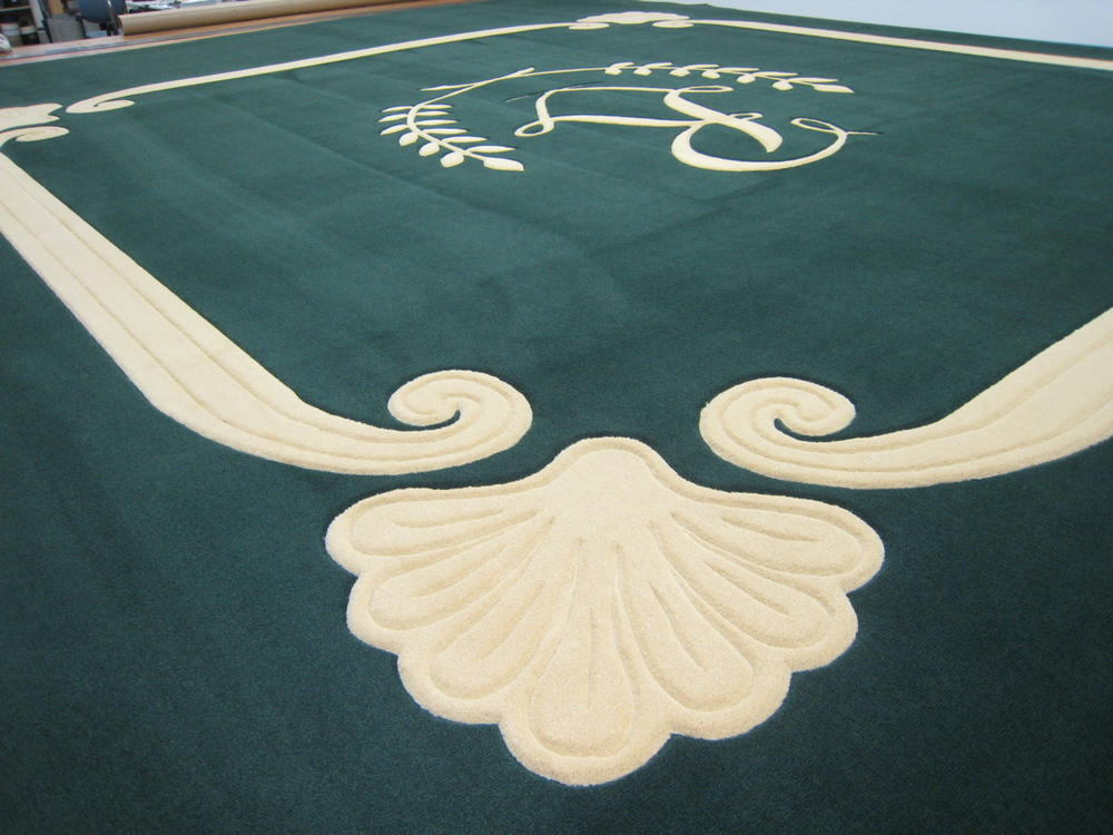 Carving and Inset Logo