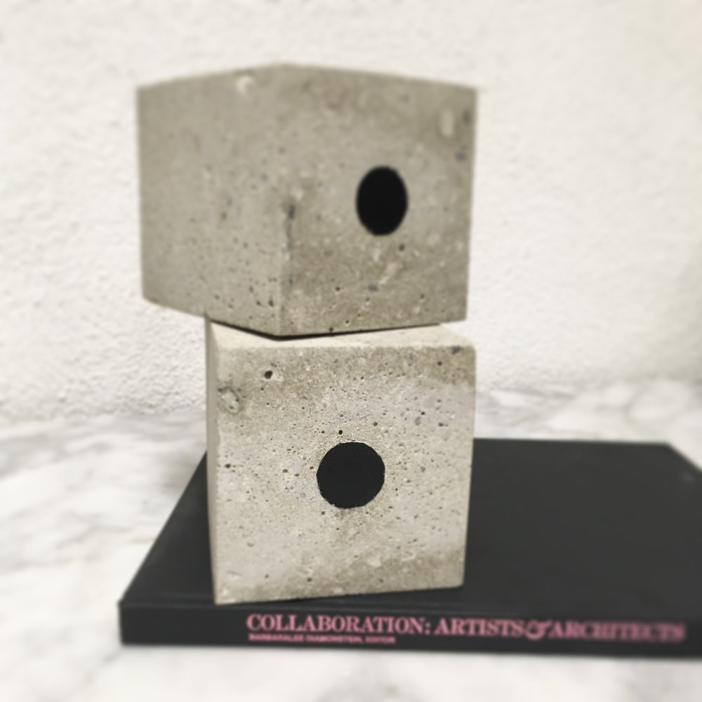 Large concrete and resin bookends