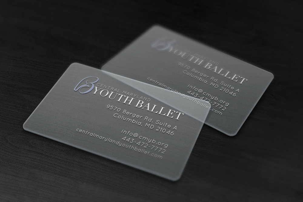 CMYB Transparent Business Cards