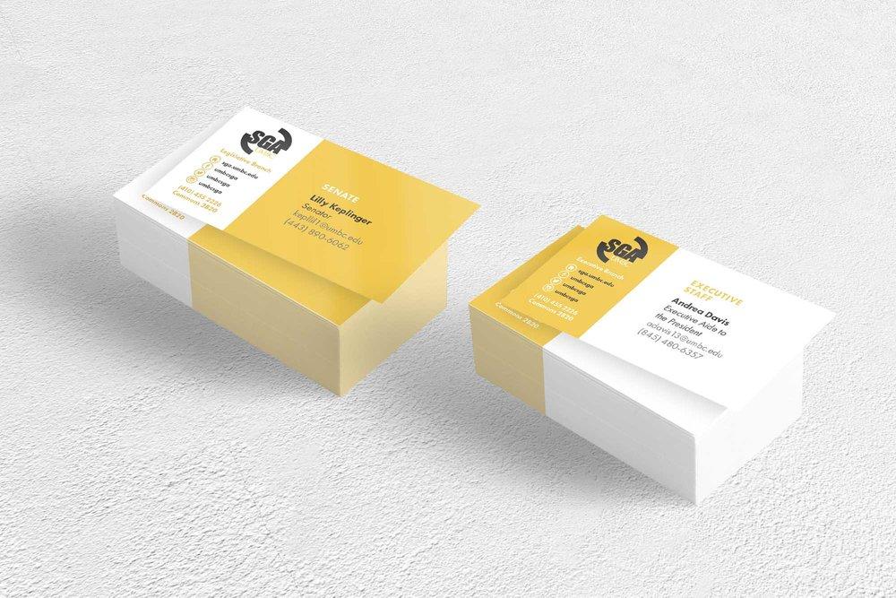 UMBC SGA Business Cards