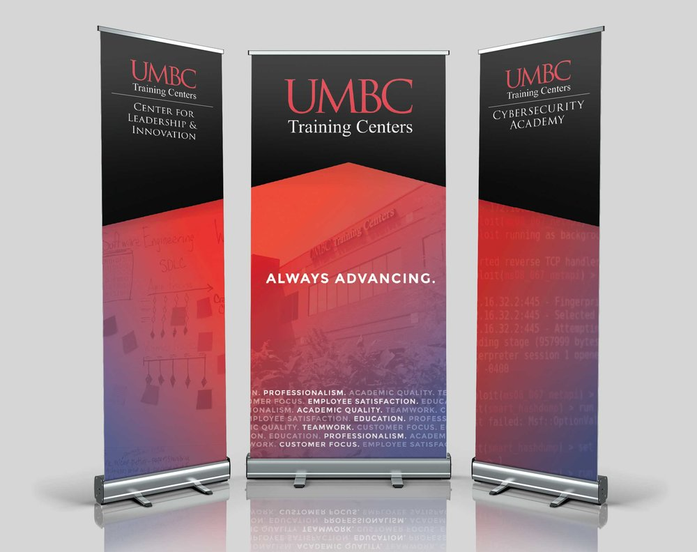 2018 UMBC Training Centers Tradeshow Banners