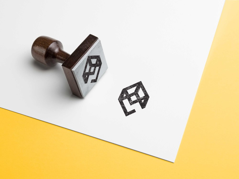 HeritEdge Logo Stamp