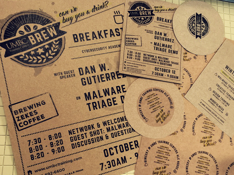 BREW Print Collateral, Coasters, Stickers