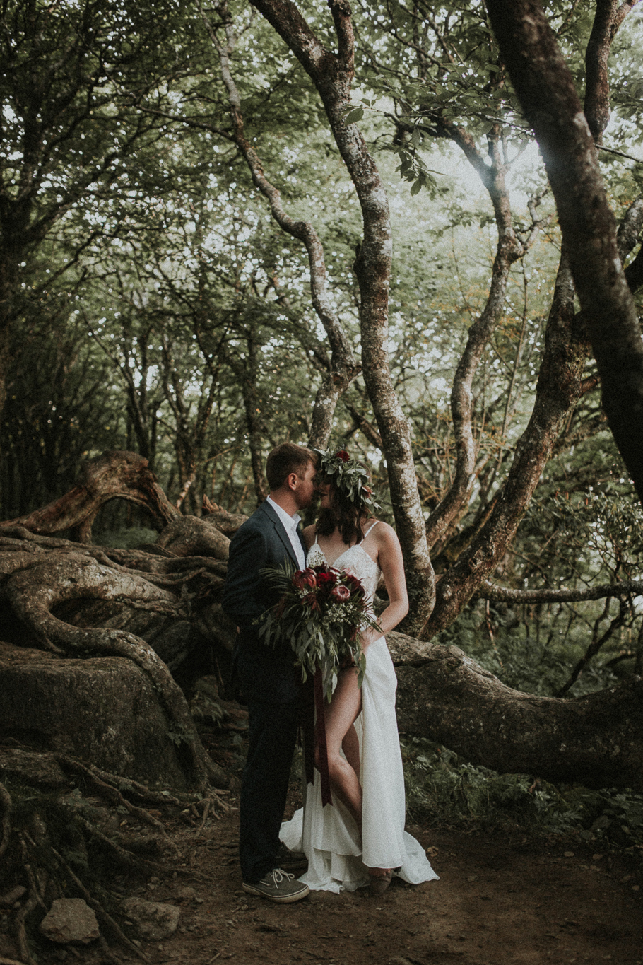 Styled Elopement  Craggy Gardens