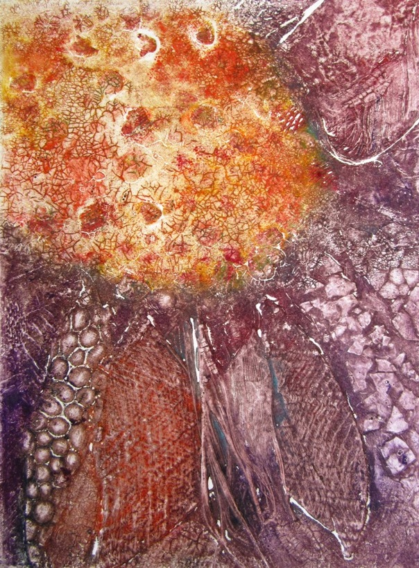 Image 5 - Coneflower - Collagraphy Print - Susan Greenbank.JPG